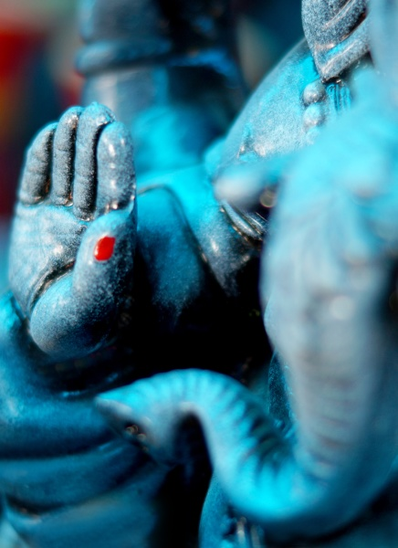 view of hand of indian god