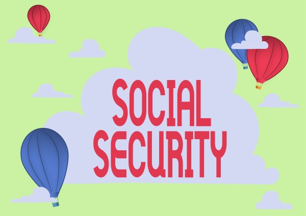 sign displaying social security business approach