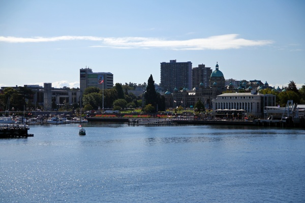 victoria waterfront with parliament building and