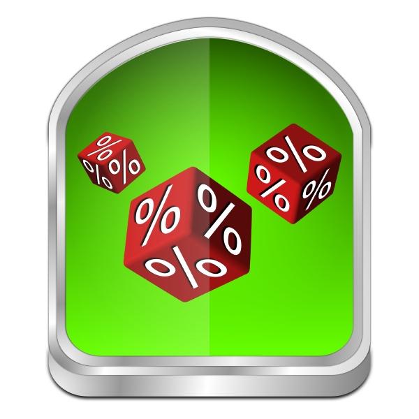 discount button green 3d illustration