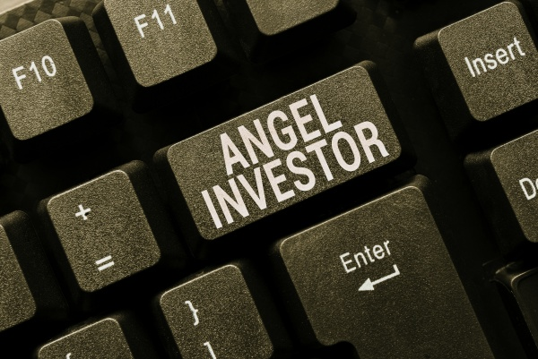 text sign showing angel investor conceptual