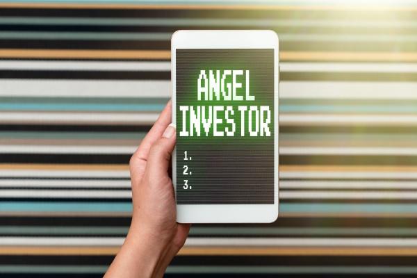 text caption presenting angel investor word