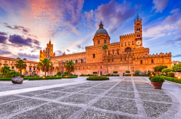 palermo italy norman cathedral in sicily