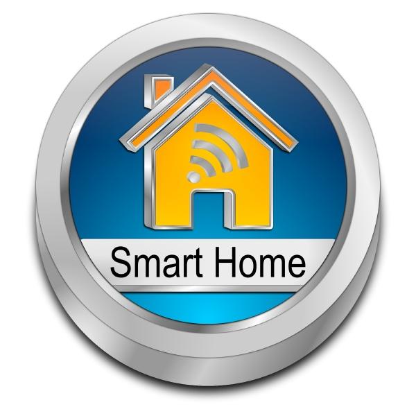 smart home button blue orange