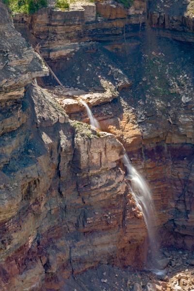 waterfall in bletterbach gorge near bozen