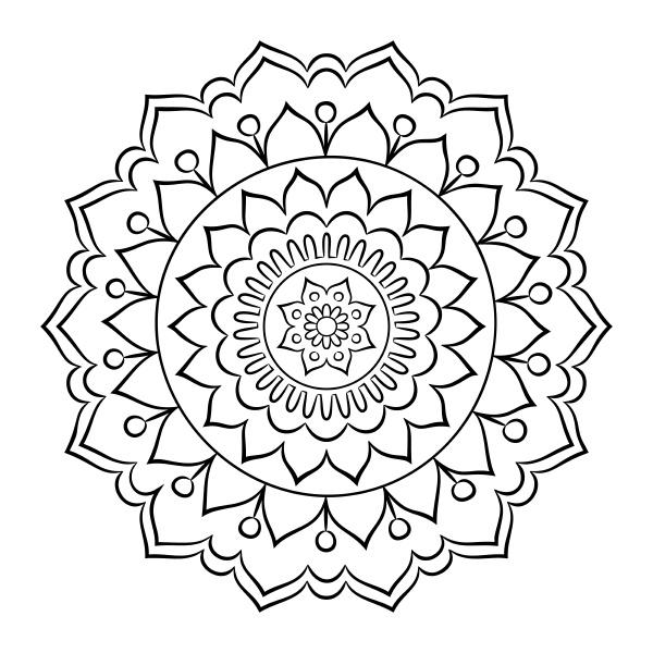 doodle mandala coloring page
