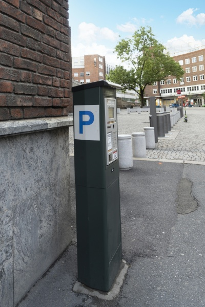the pay machine for parking on