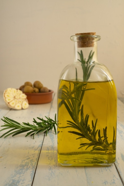 olive oil with infused rosemary