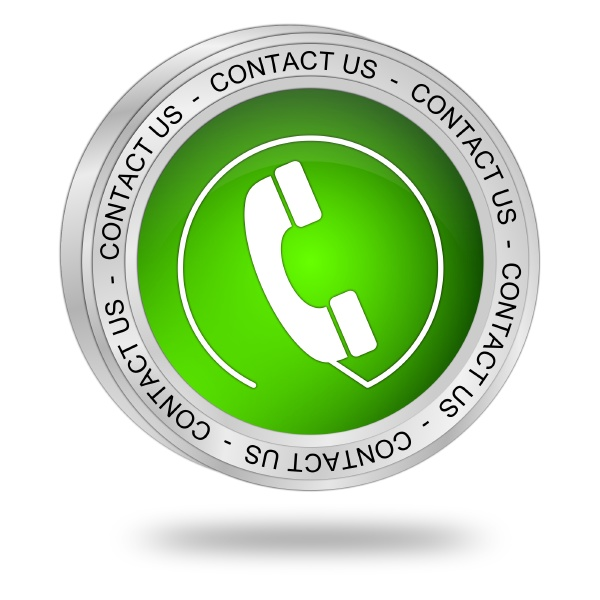 button contact us green 3d
