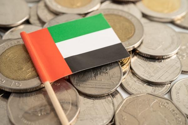united arab emirates flag on coins