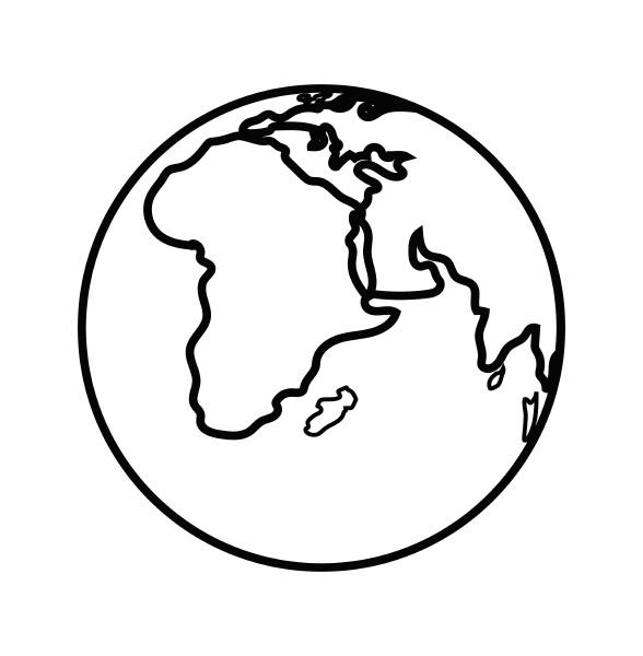 earth globe facing africa