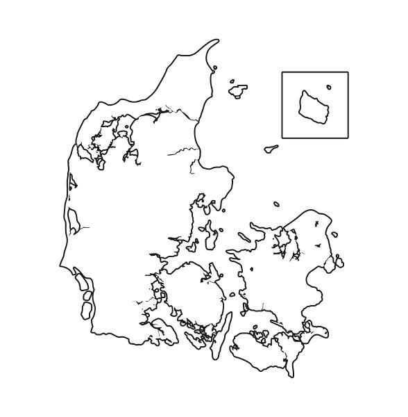map of denmark black