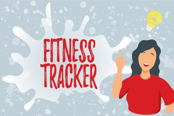 conceptual display fitness tracker business concept
