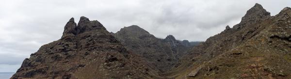 mountain peaks panoramic view mountain view