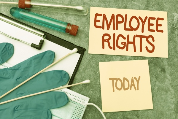 hand writing sign employee rights business