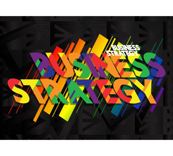 business strategy vector logo