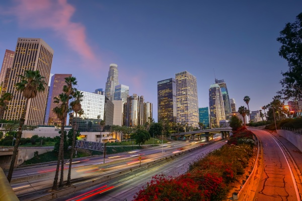 downtown los angeles city skyline cityscape