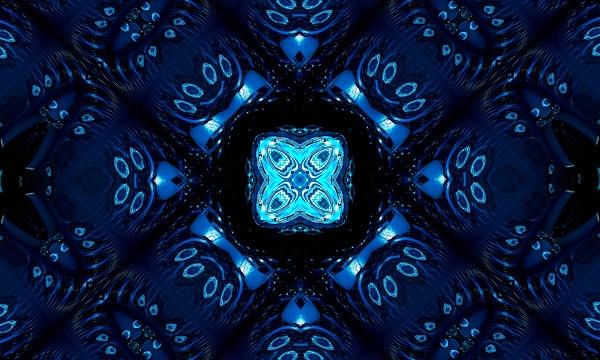blue navy kaleidoscope pattern abstract background