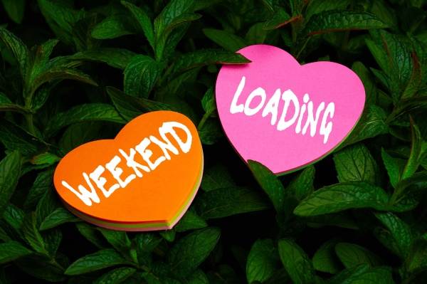 handwriting text weekend loading business approach