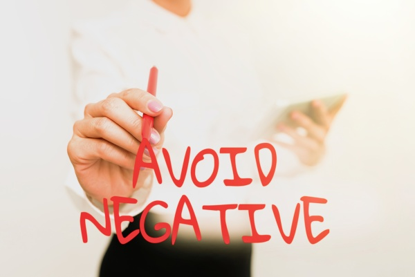 conceptual display avoid negative business overview