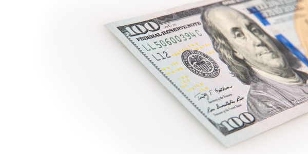 a hundred dollar bill on a