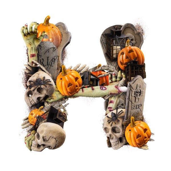letter h made of variety halloween