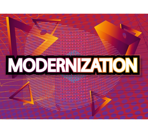 modernization vector word