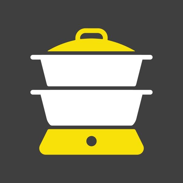 double boiler vector icon kitchen appliance