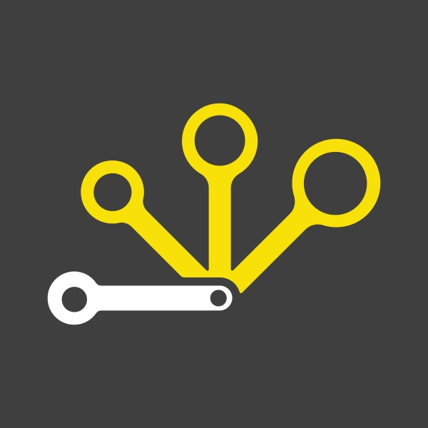 measuring spoons vector icon kitchen appliance