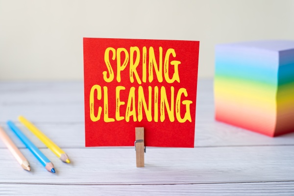 conceptual display spring cleaning concept