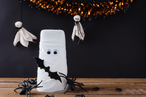 funny halloween day decor party concept