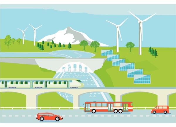 wind turbines hydropower and solar