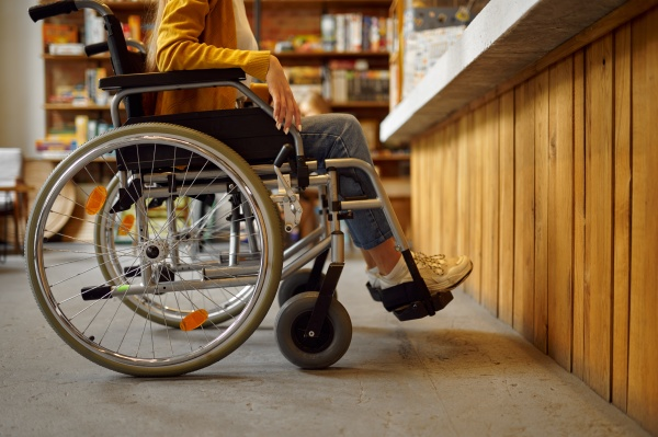 disabled female student in wheelchair at