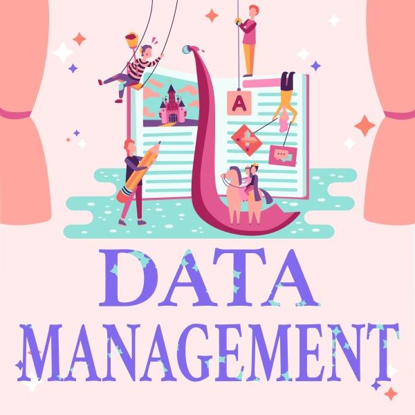 writing displaying text data management