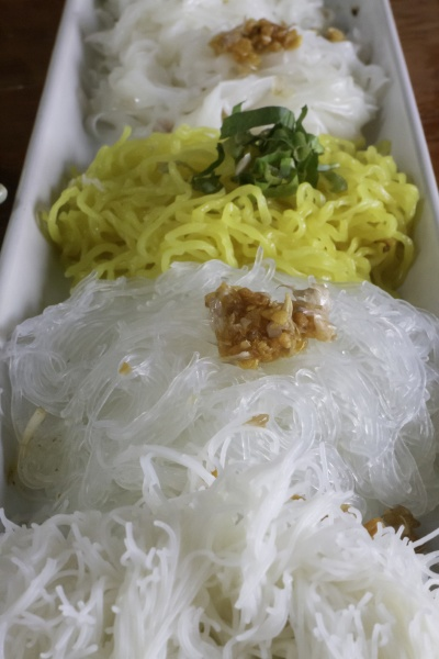 thai style noodle with herb ingredients