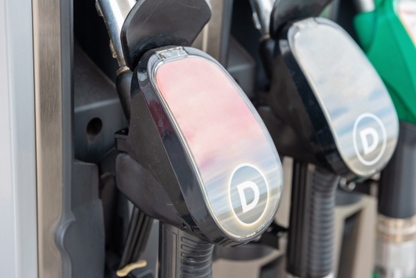 fuel pumps on a petrol station