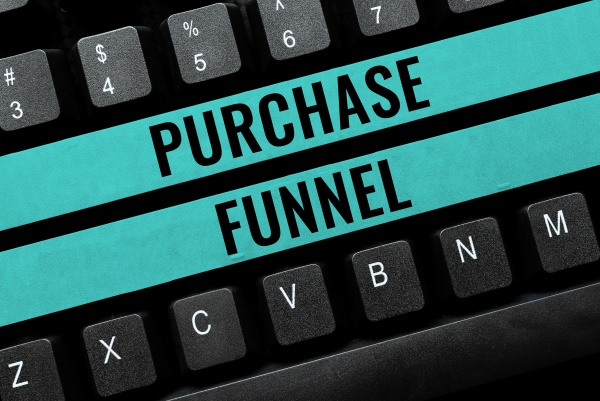 hand writing sign purchase funnel business