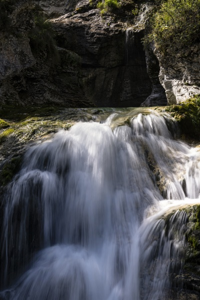 waterfalls of a river in the