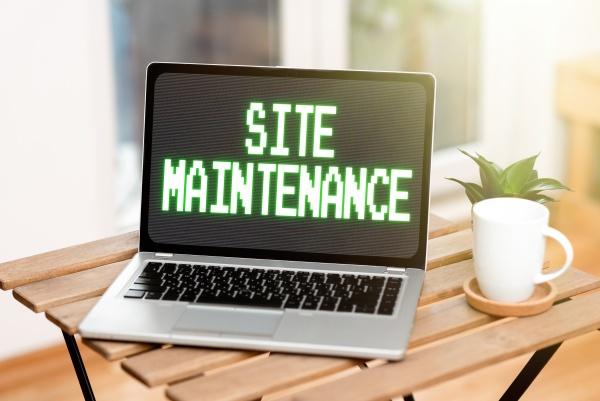 conceptual display site maintenance business concept