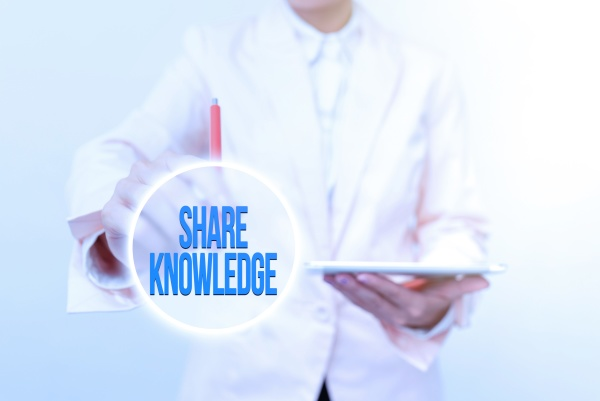 handwriting text share knowledge business