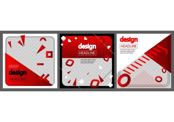 modern red white and black design