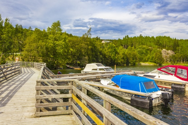 boats jetty landing stage by the