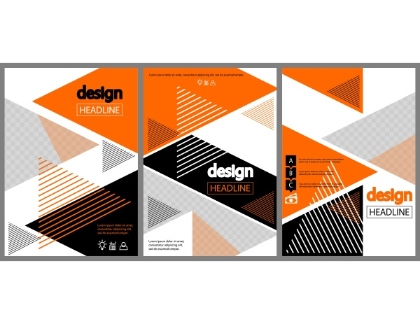 modern orange and black design for