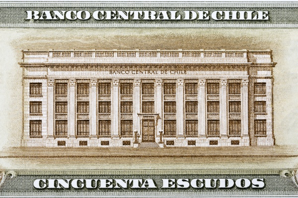 chilean central bank building from money
