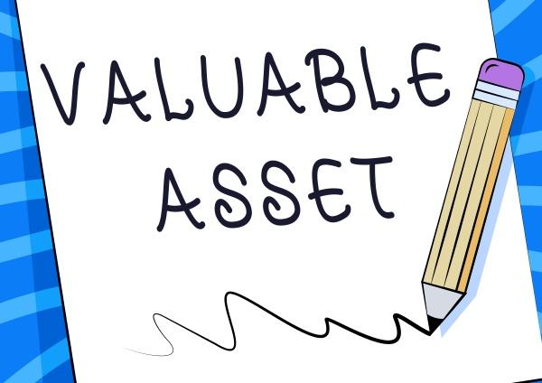conceptual caption valuable asset business