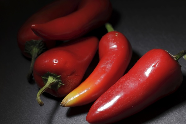 close up of red chili peppers