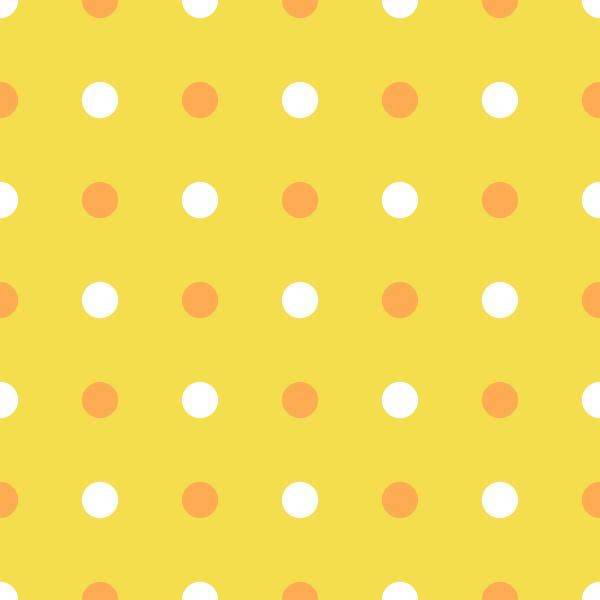 polka dot pattern marigold orange and