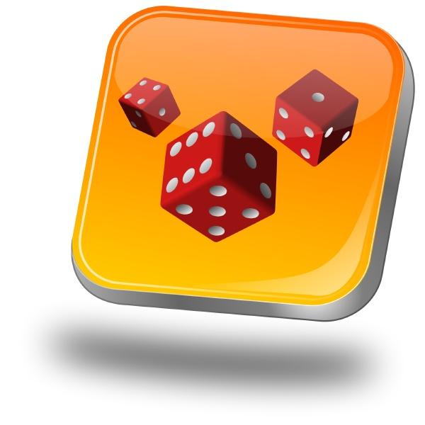 discount button orange 3d illustration
