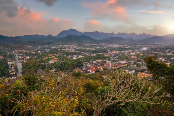 cityscape of old town luang prabang