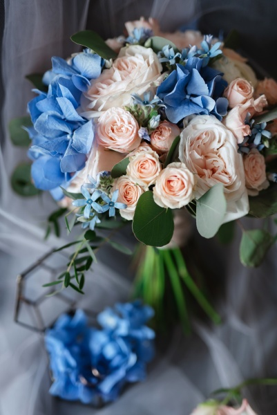 elegant wedding bouquet of fresh natural